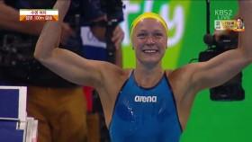 女 접영 100m결승 이미지