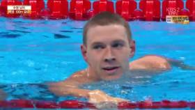 男 배영 100m 결승 이미지