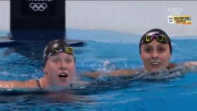 女 평영 100m 결승 이미지