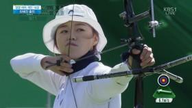 여자 양궁 16강, 남북대결 시작 이미지