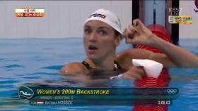 女 배영 200m 준결승 2조 이미지