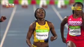 육상 여자 100m 준결승  이미지