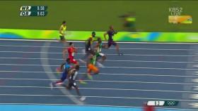 남자 100M 준결승 1조 이미지