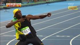 육상 男 100m 결승, 볼트 금 이미지