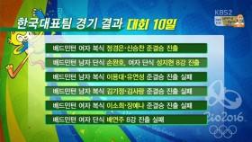 대회 10일 한국 경기결과 이미지