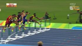 男 110m 허들 결승 이미지