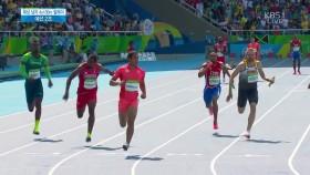 남자 육상 400m 릴레이 예선 2조 이미지