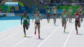 여자 육상 400m 2조예선 이변 이미지