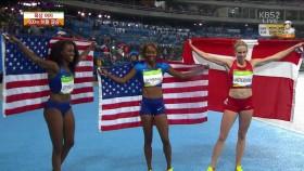 女 400m 허들 결승, 미국 금 이미지