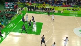 농구 결승 전반 하이라이트 이미지
