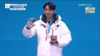 스노보드 남자 평행대회전 시상식 '이상호 은메달'