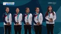 컬링 여자 시상식 '대한민국 은메달'
