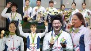 '금 9개·종합 8위' 한국, 영광과 감동의 17일