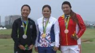 [영상] 박인비, 버디 행진으로 올림픽 골프 첫 금