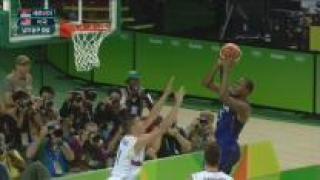 [영상] 미국 농구 드림팀, 세르비아 대파하고 올림픽 3연패