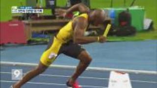 볼트, 400미터 계주 金…올림픽 3연속 3관왕