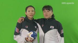 핸드볼 언니들의 프로필 촬영현장 귀여운 NG 이미지