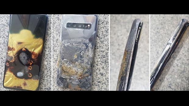 발화 주장 제기된 갤럭시S10 5G 사진 모음 [사진 출처 : 시청자 제공]