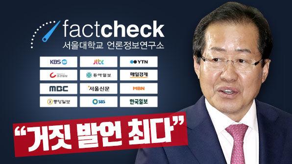 언론사 검증, 거짓 발언 최다 대선 후보는?